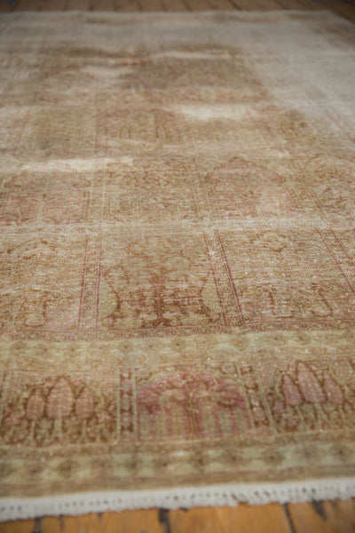 Vintage Distressed Kashmir Silk Carpet
