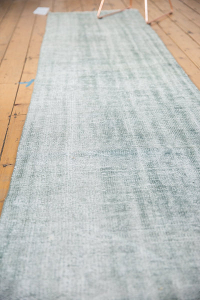 Vintage Distressed Overdyed Oushak Rug Runner