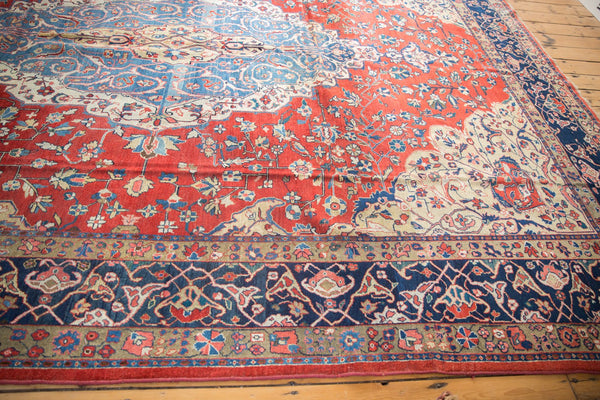 Vintage Distressed Laristan Carpet