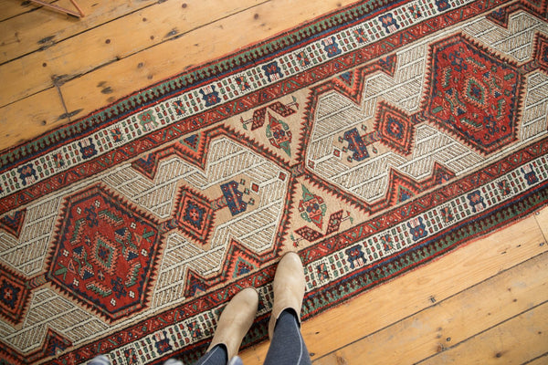 Vintage Distressed Serab Rug Runner