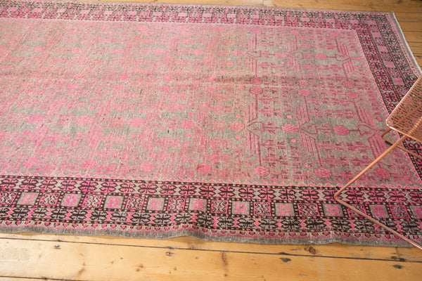 Vintage Distressed Khotan Rug Runner / Item ee003084 image 7