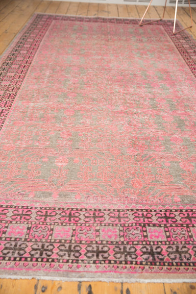 Vintage Distressed Khotan Rug Runner / Item ee003084 image 11