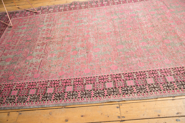 Vintage Distressed Khotan Rug Runner / Item ee003084 image 13