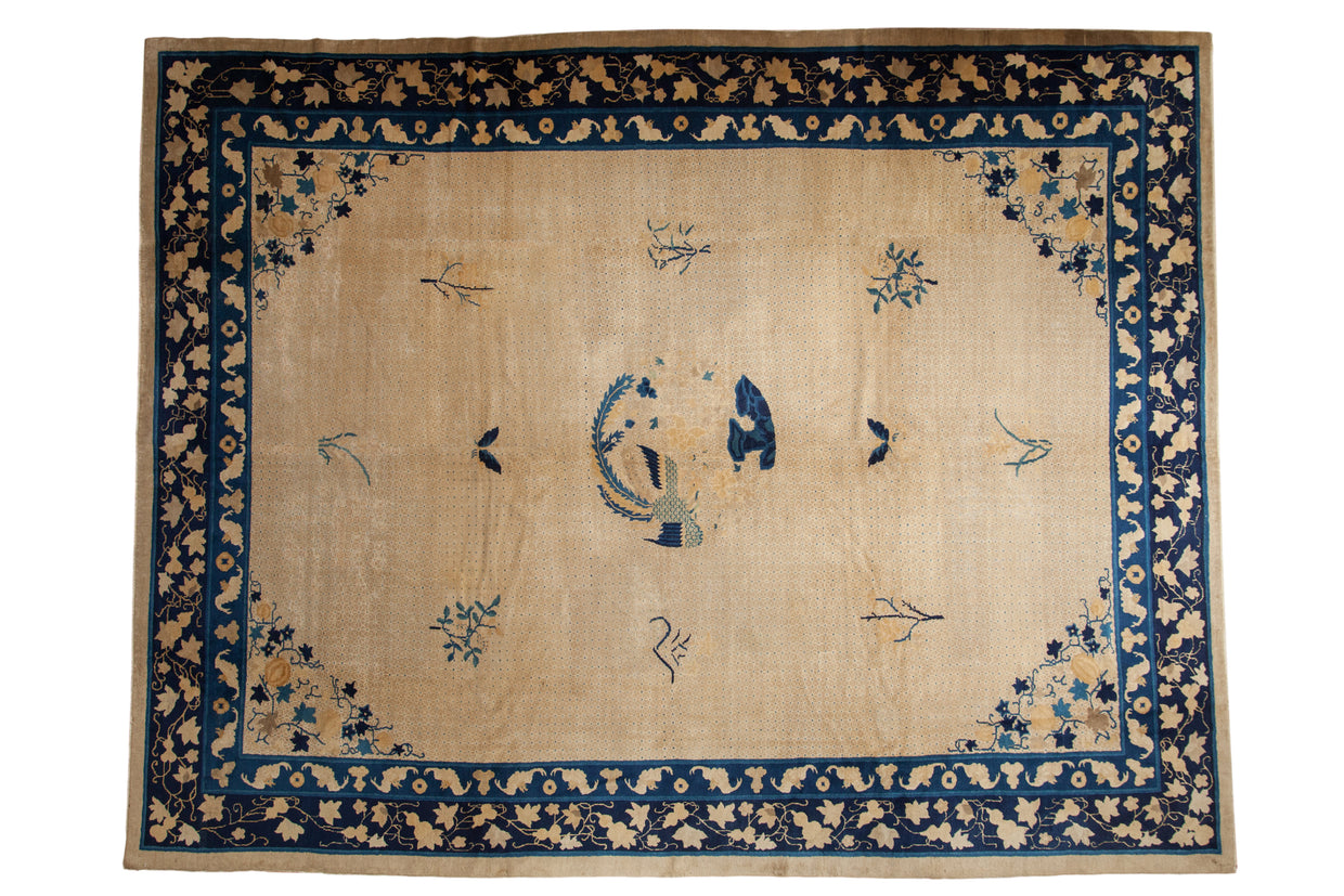 9x11.5 Antique Peking Carpet // ONH Item ee003087