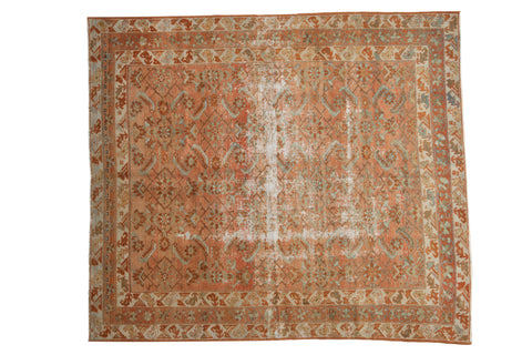 5.5x6 Vintage Distressed Malayer Square Carpet // ONH Item ee003089