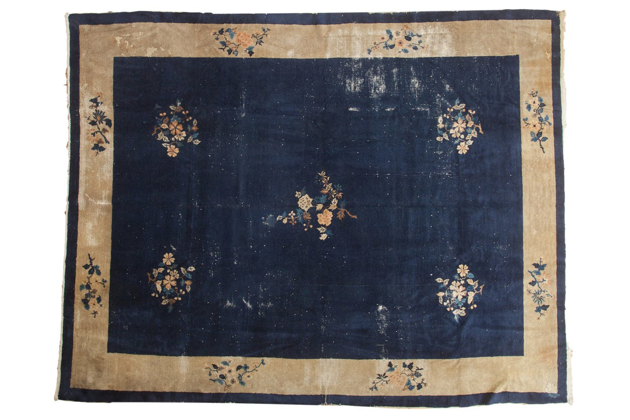 9x11.5 Vintage Peking Carpet // ONH Item ee003092