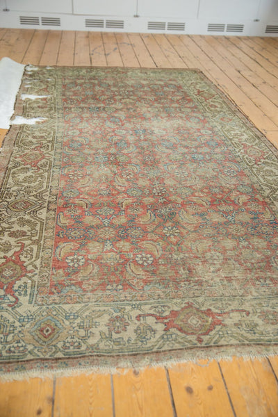 Vintage Distressed Fragmented Hamadan Rug Runner / Item ee003145 image 4