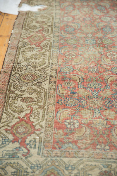 Vintage Distressed Fragmented Hamadan Rug Runner / Item ee003145 image 5