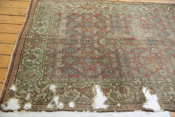 Vintage Distressed Fragmented Hamadan Rug Runner / Item ee003145 image 7