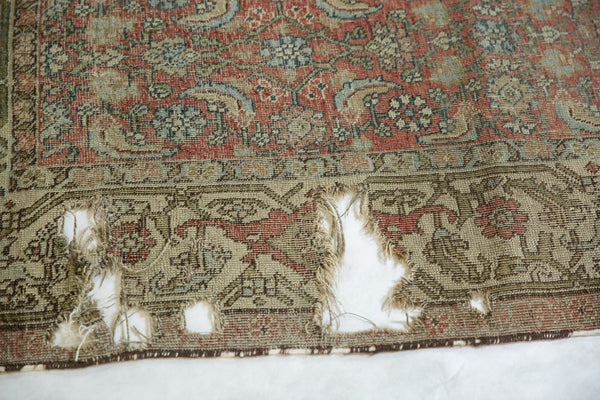Vintage Distressed Fragmented Hamadan Rug Runner / Item ee003145 image 8