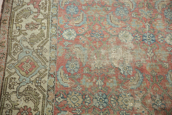 Vintage Distressed Fragmented Hamadan Rug Runner / Item ee003145 image 14