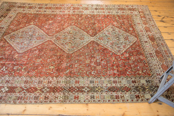 Vintage Distressed Qashqai Carpet