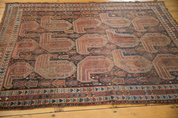 Antique Qashqai Square Rug / Item ee003180 image 3