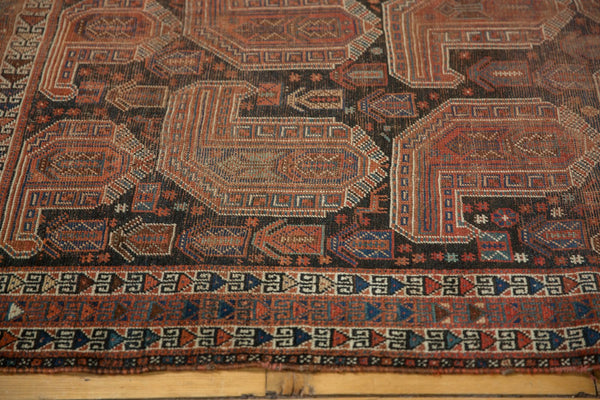 Antique Qashqai Square Rug / Item ee003180 image 4