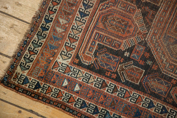 Antique Qashqai Square Rug / Item ee003180 image 5