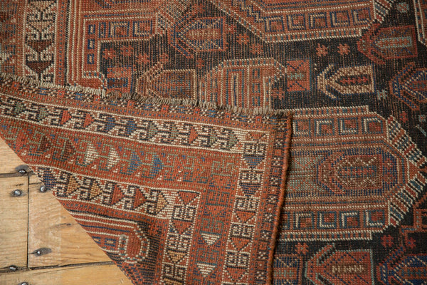 Antique Qashqai Square Rug / Item ee003180 image 6