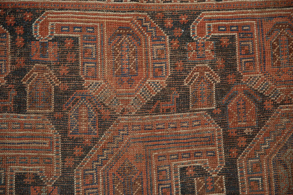 Antique Qashqai Square Rug / Item ee003180 image 7