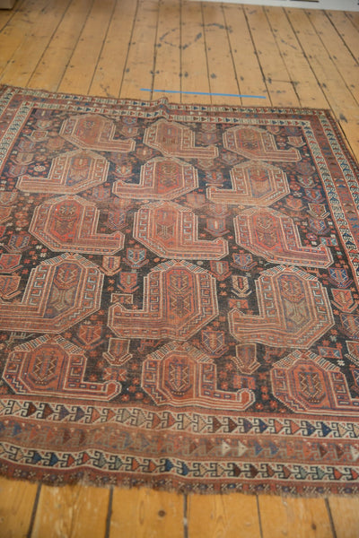 Antique Qashqai Square Rug / Item ee003180 image 8