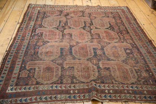Antique Qashqai Square Rug / Item ee003180 image 9