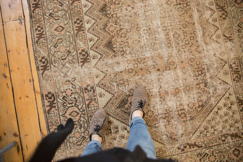 Vintage Distressed Malayer Carpet
