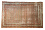 Vintage Distressed Mir Serbend Carpet