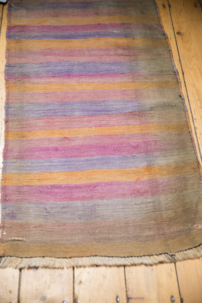 Vintage Distressed Turkish Kilim Rug Runner