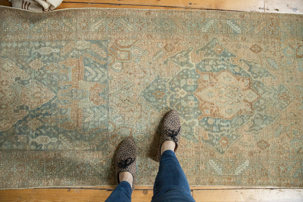 Vintage Distressed Heriz Rug Runner / Item ee003496 image 3