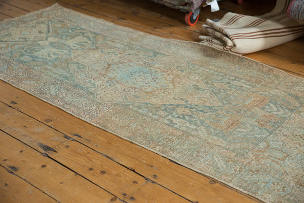 Vintage Distressed Heriz Rug Runner / Item ee003496 image 6