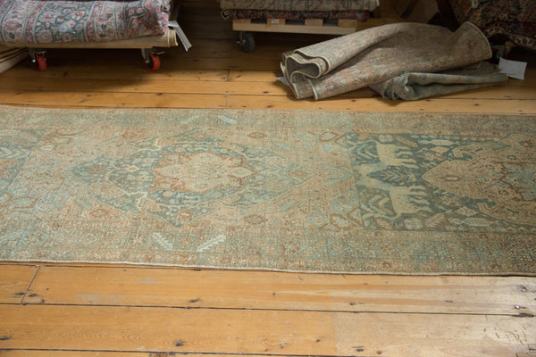 Vintage Distressed Heriz Rug Runner / Item ee003496 image 7