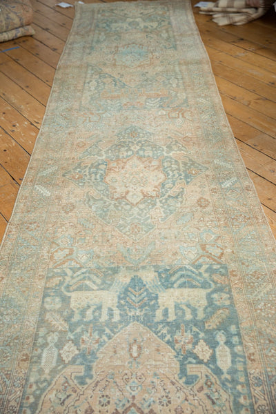 Vintage Distressed Heriz Rug Runner / Item ee003496 image 11