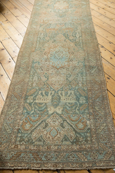 Vintage Distressed Heriz Rug Runner / Item ee003496 image 12