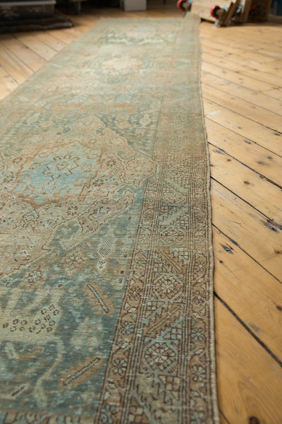 Vintage Distressed Heriz Rug Runner / Item ee003496 image 13