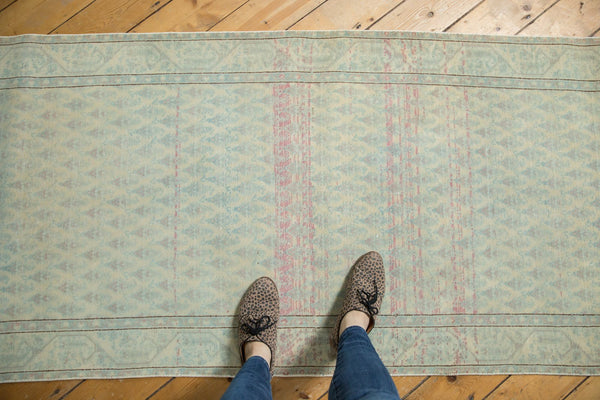 Vintage Distressed Serbend Rug Runner / Item ee003506 image 2