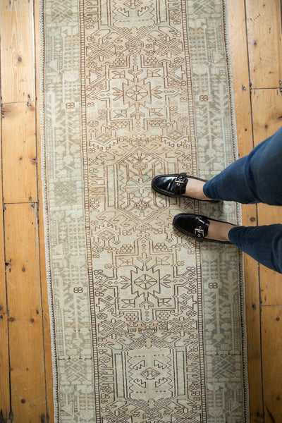Vintage Distressed Karaja Rug Runner / Item ee003513 image 4