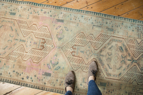 Vintage Distressed Serab Rug Runner / Item ee003515 image 2