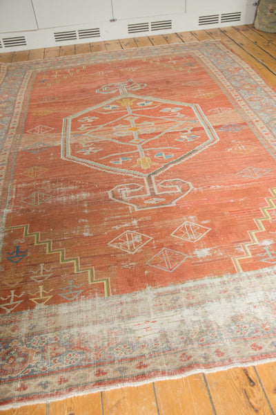 Vintage Distressed Mahal Carpet / Item ee003539 image 6
