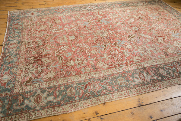 Vintage Distressed Heriz Carpet / Item ee003543 image 8