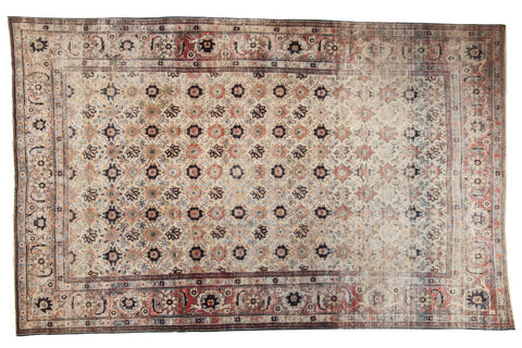 Vintage Distressed Veramin Carpet / ONH item ee003574