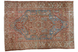 Vintage Distressed Karaja Carpet / ONH item ee003586