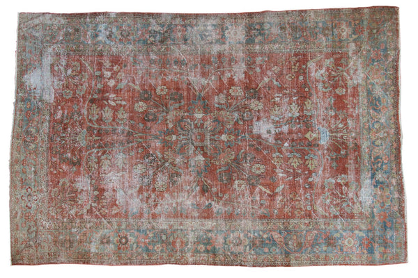 Vintage Distressed Mahal Carpet / ONH item ee003596