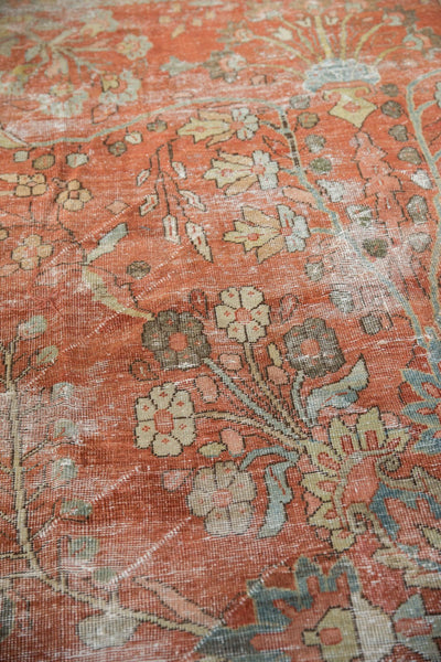 Vintage Distressed Mahal Carpet / ONH item ee003596 Image 2