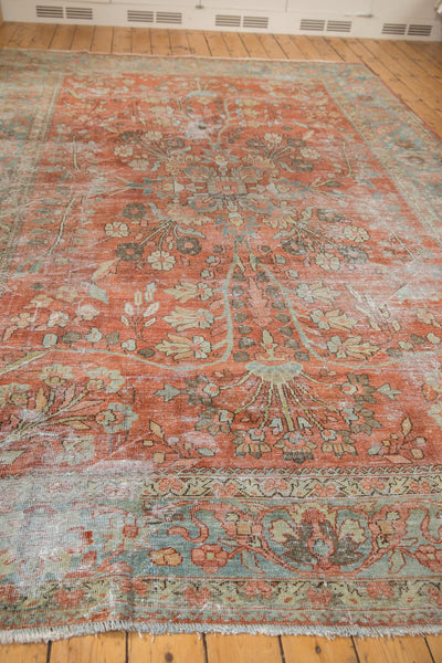 Vintage Distressed Mahal Carpet / ONH item ee003596 Image 5