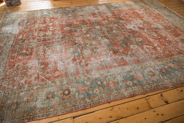 Vintage Distressed Mahal Carpet / ONH item ee003596 Image 8