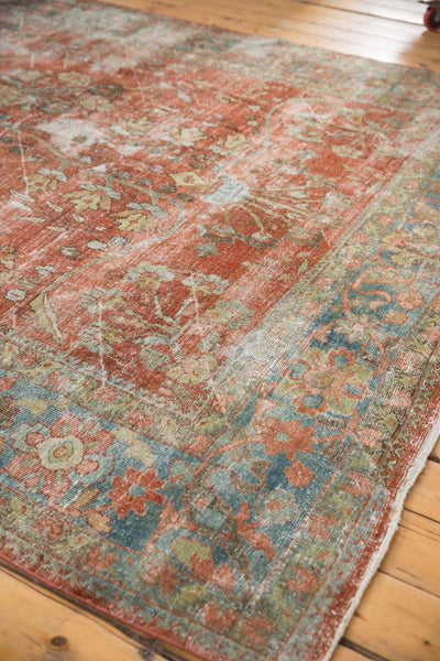 Vintage Distressed Mahal Carpet / ONH item ee003596 Image 13
