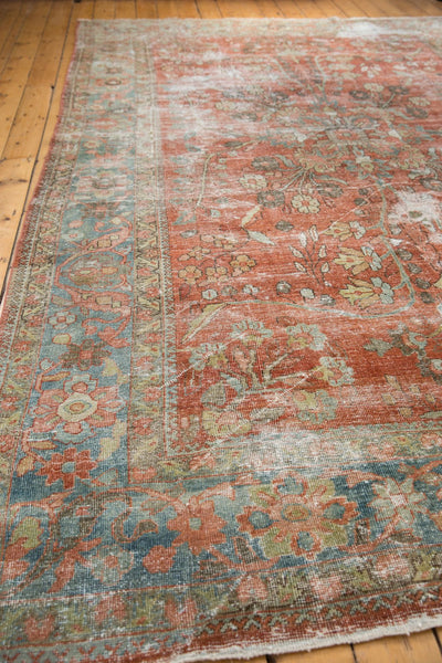 Vintage Distressed Mahal Carpet / ONH item ee003596 Image 14