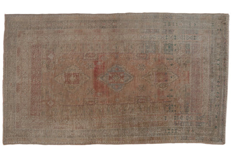 Vintage Distressed Oushak Carpet / ONH item ee003619