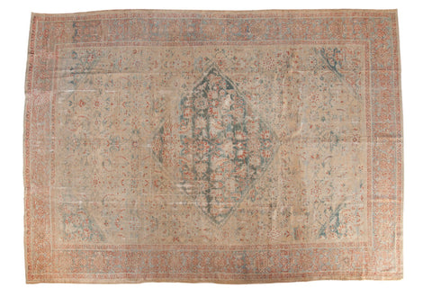 Antique Distressed Sultanabad Carpet / ONH item ee003622