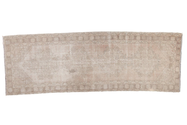 Vintage Distressed Oushak Rug Runner / ONH item ee003623