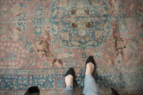 Vintage Distressed Tabriz Carpet / ONH item ee003638 Image 1
