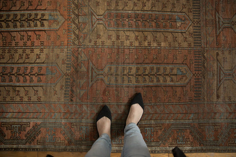 Vintage Distressed Belouch Carpet / ONH item ee003639 Image 1